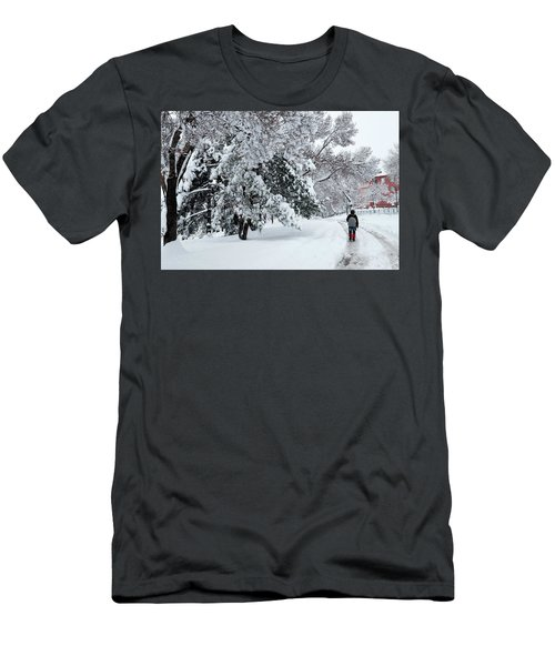 Winter Trekking-3 Men's T-Shirt (Athletic Fit)