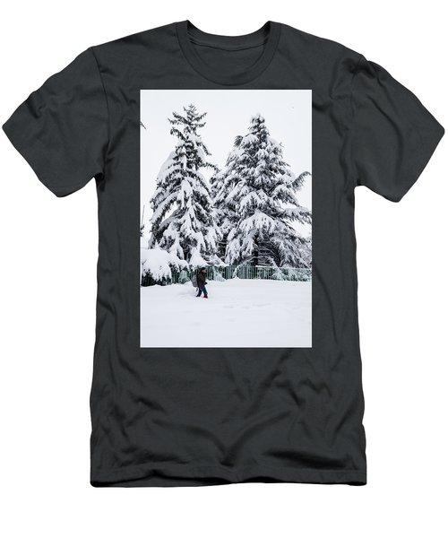 Winter Trekking Men's T-Shirt (Athletic Fit)