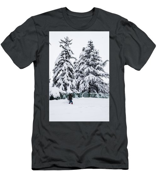 Winter Trekking Men's T-Shirt (Athletic Fit)