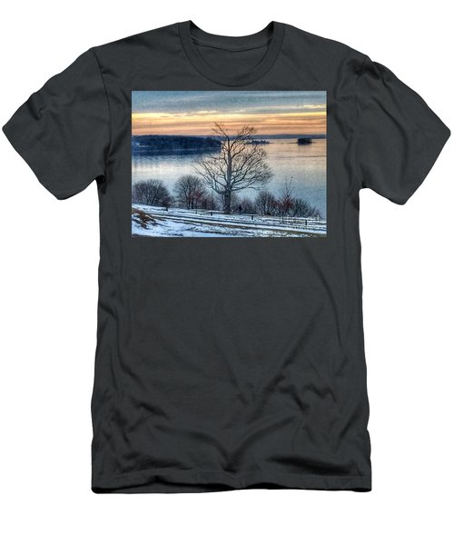 Winter Twilight At Fort Allen Park Men's T-Shirt (Athletic Fit)