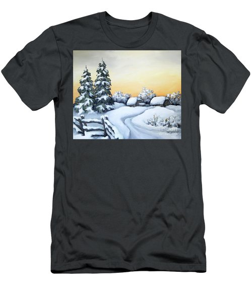 Winter Twilight Men's T-Shirt (Slim Fit) by Inese Poga