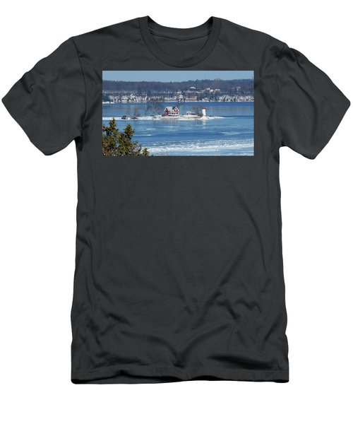 Winter View Of Crossover Island Men's T-Shirt (Athletic Fit)