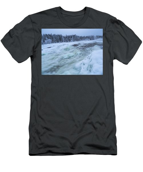 Winter Waterfall Men's T-Shirt (Athletic Fit)