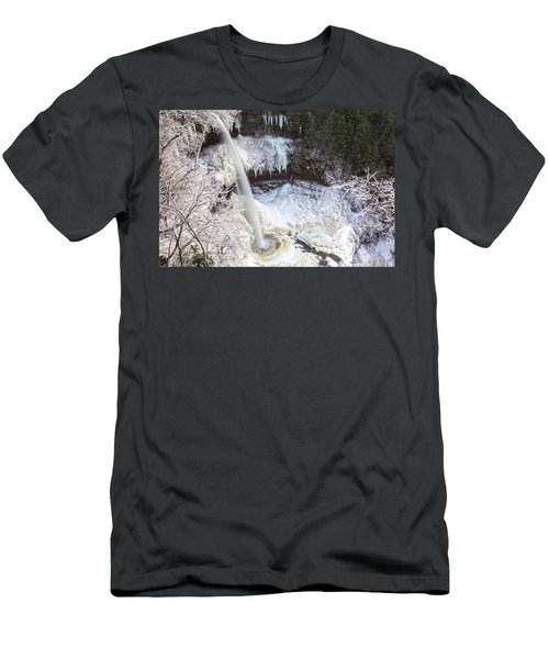 Winter Waterfalls Men's T-Shirt (Athletic Fit)