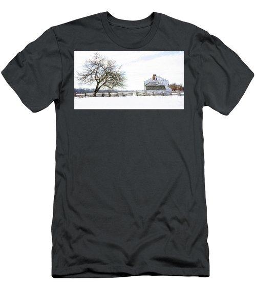 Winter White Out Men's T-Shirt (Slim Fit) by Debra Fedchin