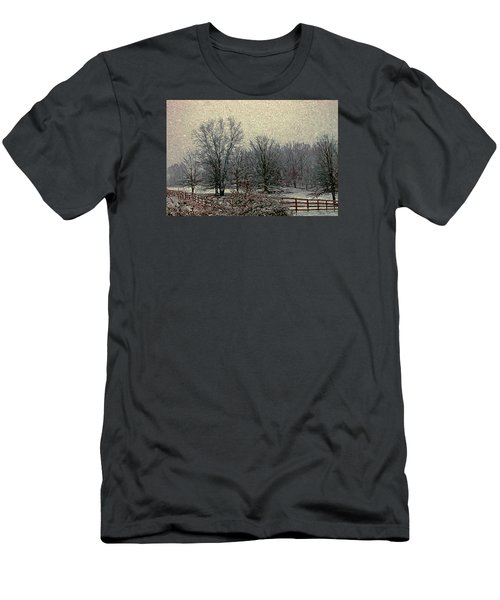 Winter's First Snowfall Men's T-Shirt (Athletic Fit)