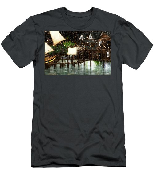 Wintery Inn Men's T-Shirt (Athletic Fit)