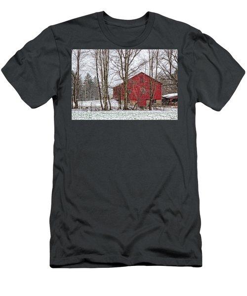 Wintry Barn Men's T-Shirt (Slim Fit) by Skip Tribby