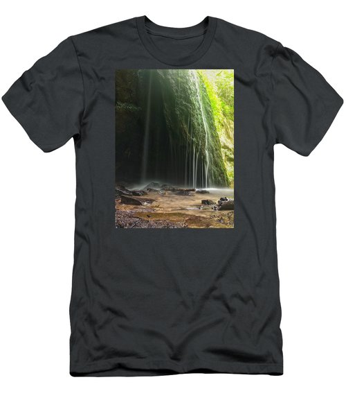 Wisconsin Waterfall Men's T-Shirt (Slim Fit) by Nikki McInnes