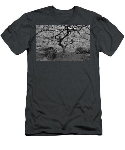 Men's T-Shirt (Slim Fit) featuring the photograph Wisdom Bw by Jonathan Davison