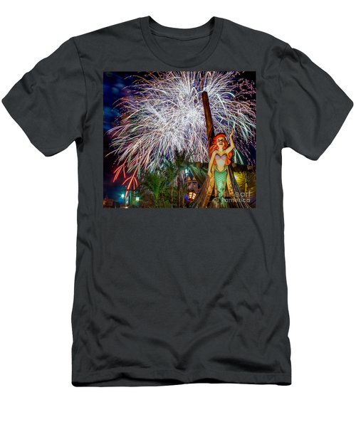 Wishes Over Prince Eric's Castle Men's T-Shirt (Athletic Fit)