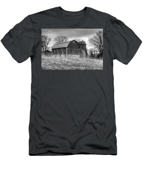 Withered Old Barn Men's T-Shirt (Slim Fit) by Deborah Klubertanz