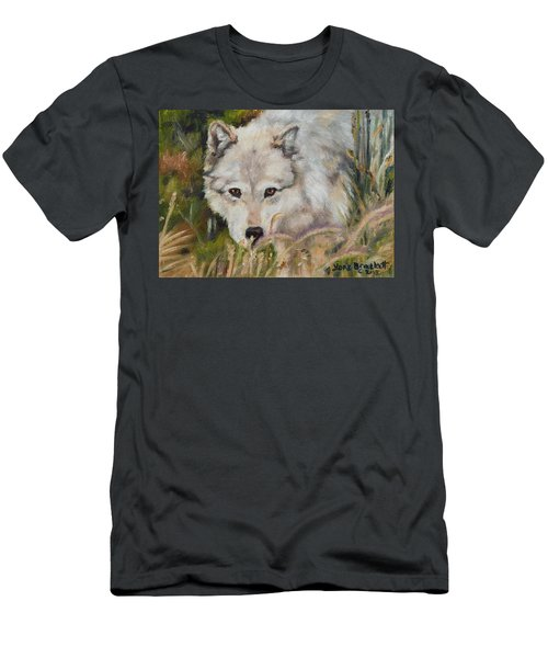 Wolf Among Foxtails Men's T-Shirt (Athletic Fit)