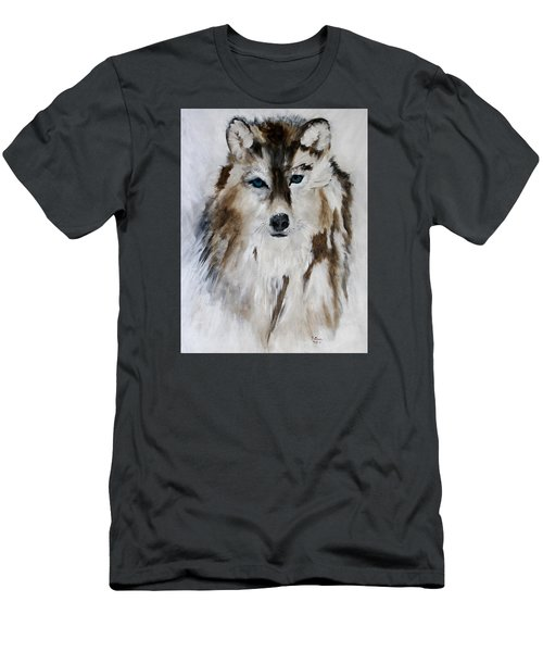 Wolf - Blue Star Men's T-Shirt (Slim Fit) by Barbie Batson