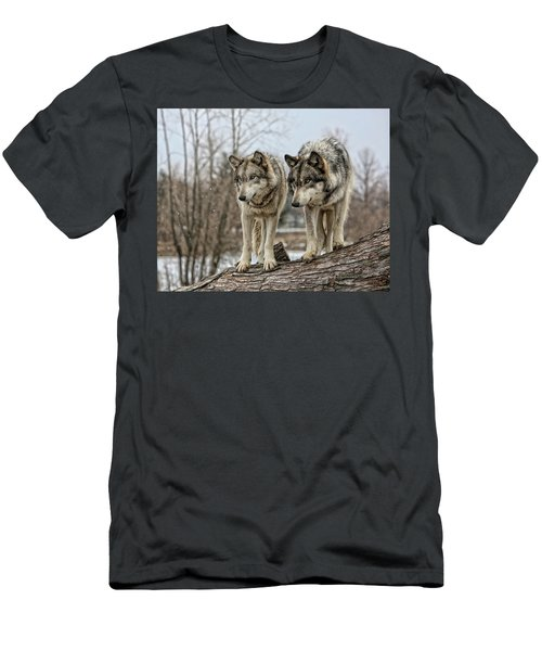 Wolf Pair Men's T-Shirt (Athletic Fit)