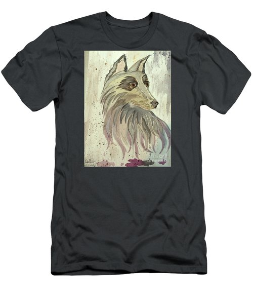 Men's T-Shirt (Slim Fit) featuring the painting Wolfie by Denise Tomasura