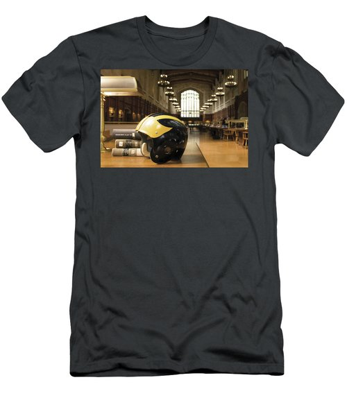 Wolverine Helmet In Law Library Men's T-Shirt (Athletic Fit)