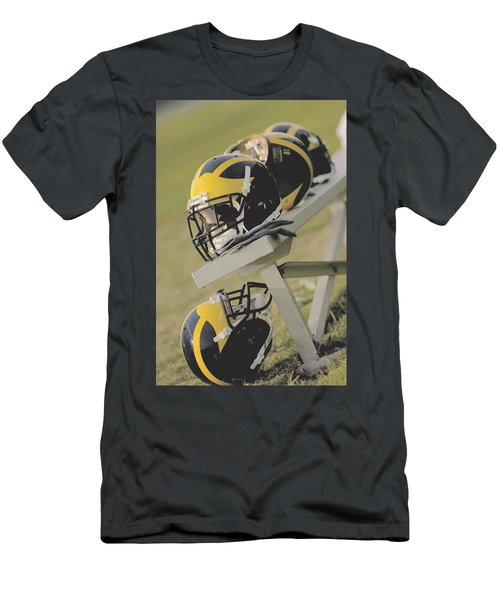 Wolverine Helmets On A Football Bench Men's T-Shirt (Athletic Fit)