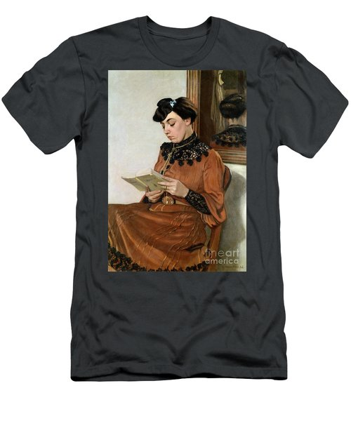 Woman Reading Men's T-Shirt (Athletic Fit)