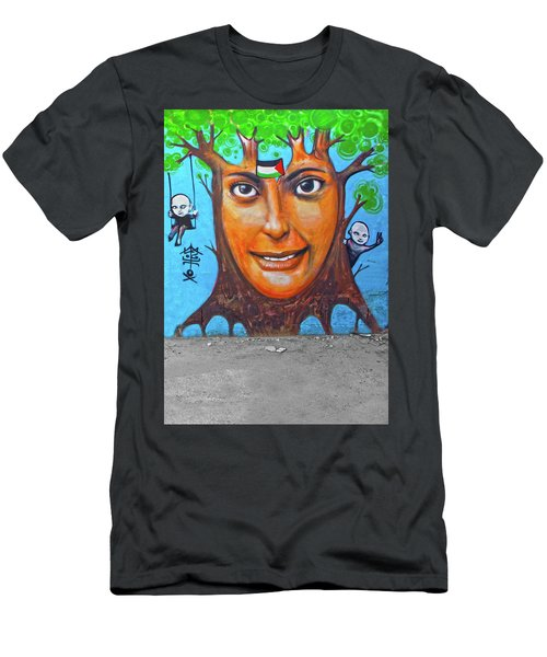 Men's T-Shirt (Slim Fit) featuring the photograph Woman Tree by Munir Alawi