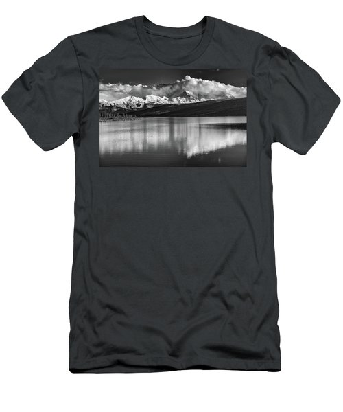Wonder Lake In Black And White Men's T-Shirt (Athletic Fit)