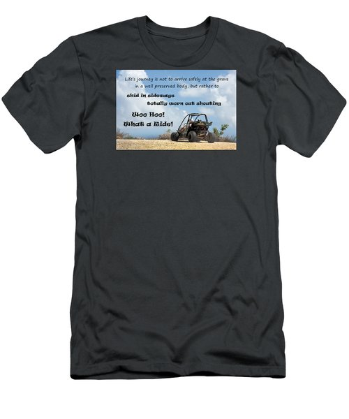Woo Hoo What A Ride Men's T-Shirt (Slim Fit) by Karen Lee Ensley