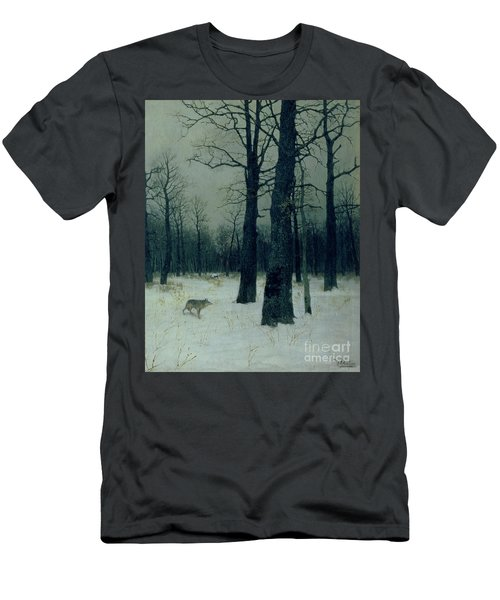 Wood In Winter Men's T-Shirt (Athletic Fit)