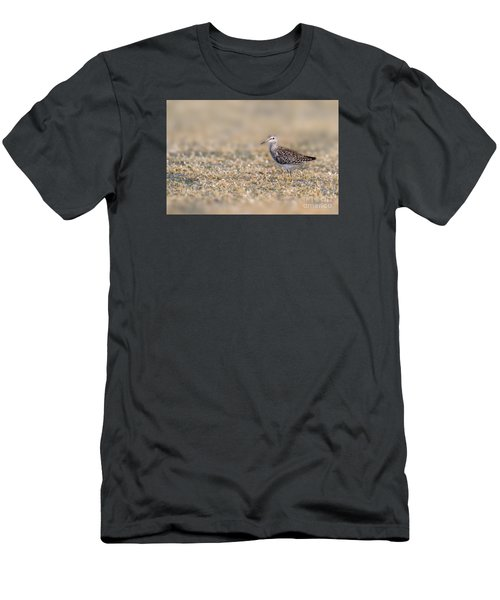 Men's T-Shirt (Slim Fit) featuring the photograph Wood Sandpiper by Jivko Nakev