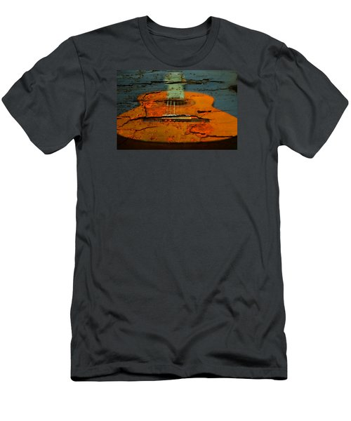 Wooden Guitar Men's T-Shirt (Athletic Fit)