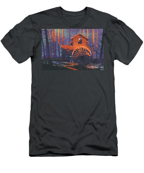 Wooden House Men's T-Shirt (Athletic Fit)