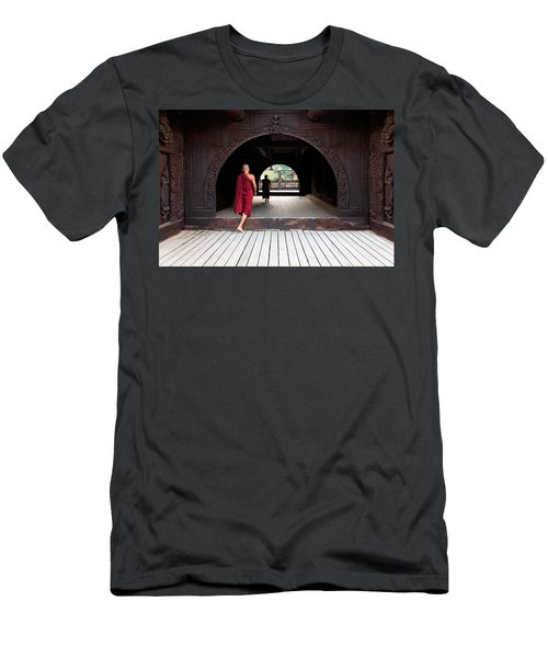 Wooden Monastery Men's T-Shirt (Athletic Fit)