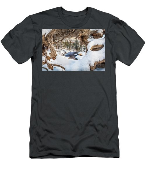 Wooden Window View  Men's T-Shirt (Athletic Fit)