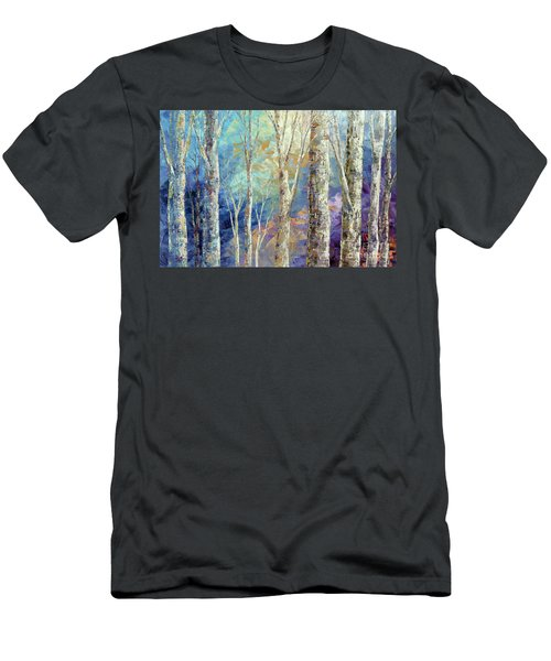 Men's T-Shirt (Slim Fit) featuring the painting Woodland Breezes by Tatiana Iliina