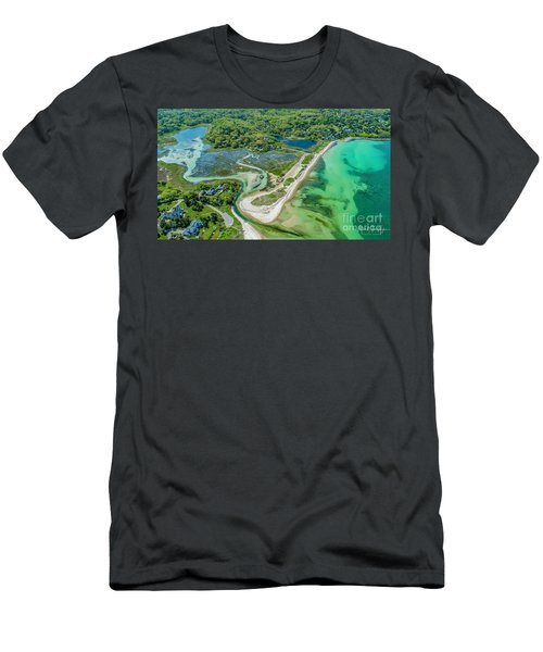 Woodneck Beach At 400 Feet Men's T-Shirt (Athletic Fit)