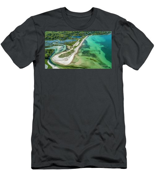 Men's T-Shirt (Athletic Fit) featuring the photograph Woodneck Beach by Michael Hughes