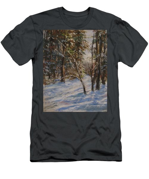Woods And Snow At Two Below Men's T-Shirt (Slim Fit) by Jack Skinner