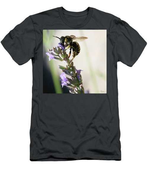 Men's T-Shirt (Athletic Fit) featuring the photograph Wool Carder by Rasma Bertz