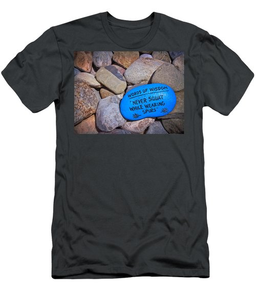 Men's T-Shirt (Slim Fit) featuring the photograph Words Of Wisdom by Colleen Kammerer