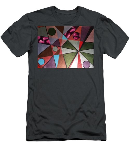 Men's T-Shirt (Slim Fit) featuring the painting World In Mind by Hang Ho