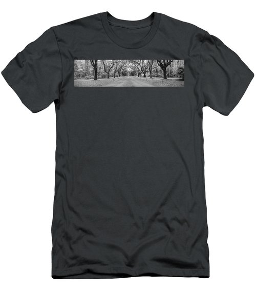 Men's T-Shirt (Slim Fit) featuring the photograph Wormsloe Pathway by Jon Glaser