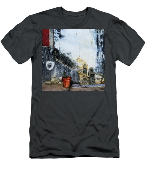 Men's T-Shirt (Slim Fit) featuring the photograph Worn Palace Stairs by Marion McCristall
