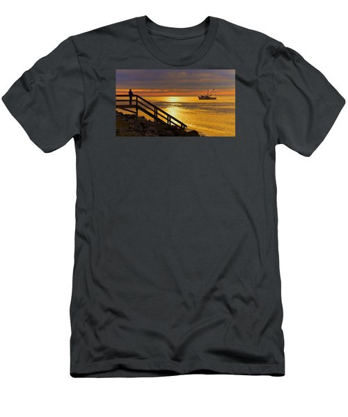 Worth Gettin Up For Men's T-Shirt (Slim Fit) by Laura Ragland
