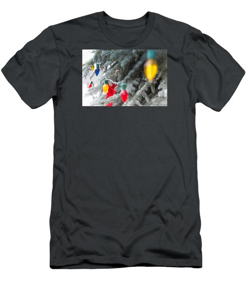 Wrap A Tree In Color Men's T-Shirt (Slim Fit) by Lora Lee Chapman