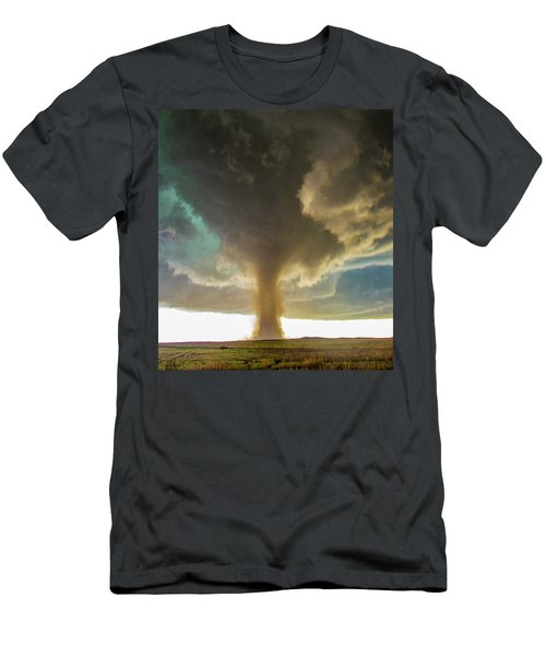 Men's T-Shirt (Athletic Fit) featuring the photograph Wray Colorado Tornado 079 by NebraskaSC