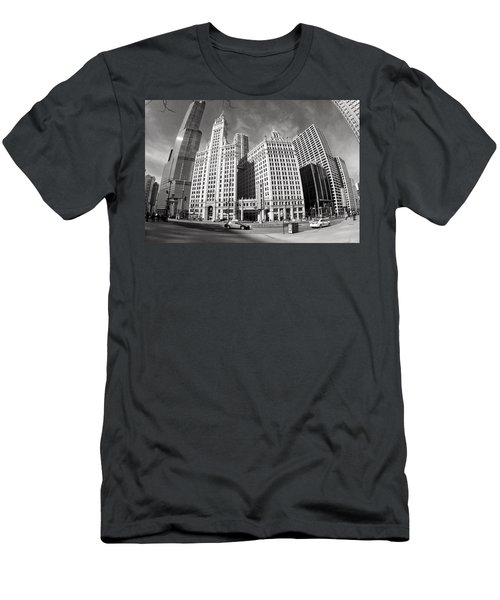 Wrigley Building - Chicago Men's T-Shirt (Athletic Fit)