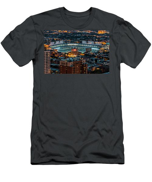 Wrigley Field From Park Place Towers Dsc4678 Men's T-Shirt (Slim Fit) by Raymond Kunst
