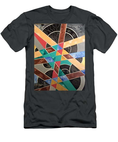 Men's T-Shirt (Slim Fit) featuring the painting Wrong And Sad by Hang Ho