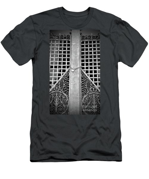 Men's T-Shirt (Athletic Fit) featuring the photograph Wrought Lock by Jost Houk