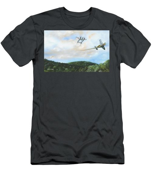 Wwii Dogfight Men's T-Shirt (Athletic Fit)
