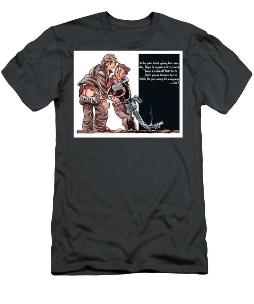 Wwii Joe Dope Cartoon Men's T-Shirt (Athletic Fit)